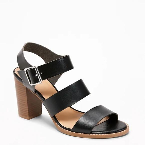 f5789366662c Three-Strap Block-Heel Sandals